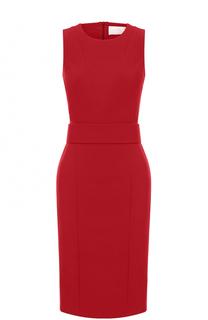 Приталенное платье-футляр с поясом HUGO