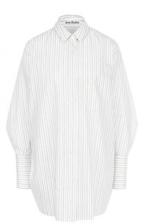 Хлопковая блуза свободного кроя в полоску Acne Studios