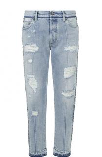 Укроченные джинсы с потертсотями Dolce & Gabbana