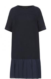 Платье прямого кроя с юбкой в складку Tegin