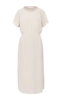 Приталенное платье свободного кроя HUGO