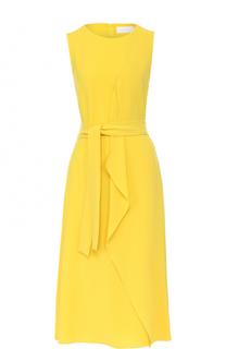 Приталенное платье с поясом HUGO