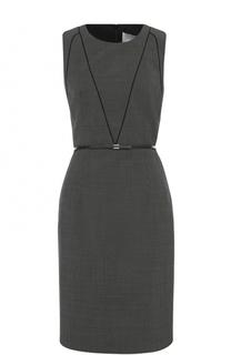 Приталенное платье-футляр с круглым вырезом HUGO