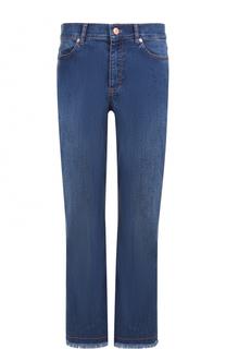 Укороченные расклешенные джинсы с бахромой Escada Sport