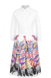 Платье-рубашка с принтованной юбкой sara roka