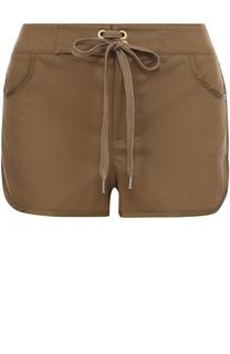 Мини-шорты с карманами и вышивкой REDVALENTINO