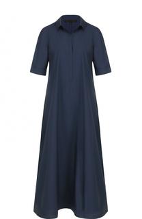 Платье-рубашка свободного кроя с укороченным рукавом Tegin