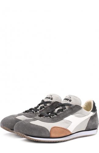 Кожаные кроссовки с перфорацией и отделкой из натуральной замши Diadora Heritage