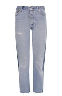 Укороченные джинсы прямого кроя Re/Done