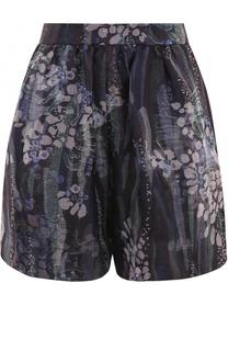Шелковые мини-шорты с принтом Giorgio Armani