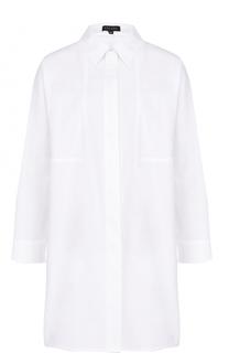 Удлиненная хлопковая блуза свободного кроя Escada