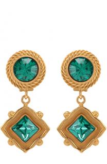 Серьги-клипсы с кристаллами Swarovski Dolce & Gabbana