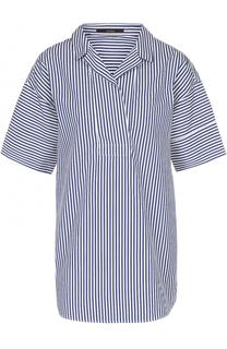 Блуза в контрастную полоску с коротким рукавом Windsor