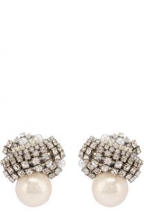 Серьги с жемчужинами и кристаллами Erickson Beamon