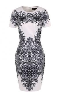 Приталенное мини-платье с принтом St. John