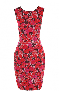 Приталенное мини-платье с цветочным принтом St. John