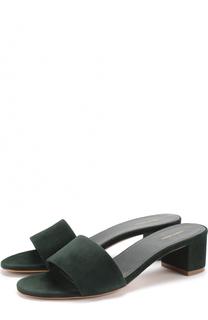 Замшевые сабо на устойчивом каблуке Mansur Gavriel