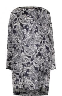 Мини-платье с удлиненной спинкой и принтом Acne Studios