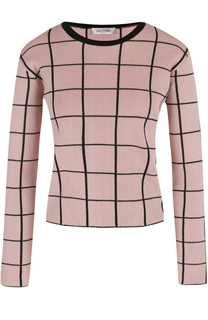 Пуловер прямого кроя в клетку Valentino