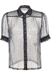 Шелковая полупрозрачная блуза с принтом Paul&Joe Paul&Joe
