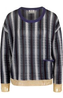 Пуловер свободного кроя в полоску Acne Studios