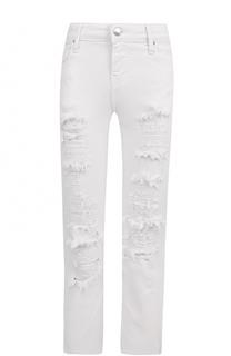 Укороченные расклешенные джинсы с потертостями Iro