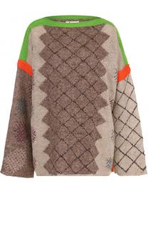 Льняной пуловер свободного кроя Acne Studios