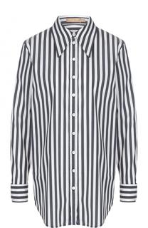 Блуза прямого кроя в полоску Michael Kors