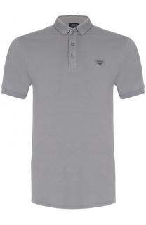 Хлопковое поло с логотипом бренда Armani Jeans