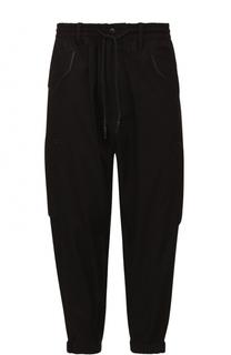 Укороченные хлопковые брюки свободного кроя с заниженной линией шага Y-3