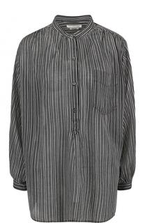 Блуза прямого кроя в полоску с воротником-стойкой Isabel Marant Etoile