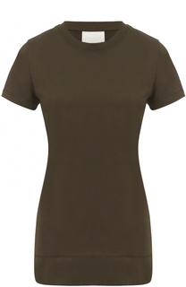 Хлопковая футболка с круглым вырезом DKNY