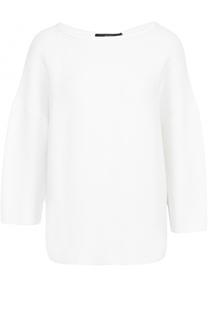 Хлопковый пуловер с укороченным рукавом и круглым вырезом Windsor