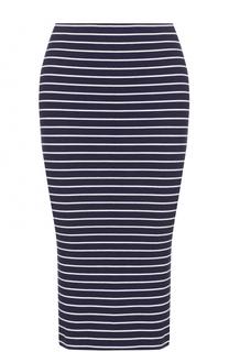 Вязаная юбка-карандаш в полоску Polo Ralph Lauren
