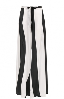 Шелковые широкие брюки в полоску Ann Demeulemeester