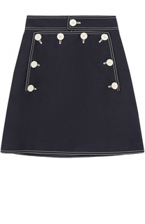 Мини-юбка А-силуэта с контрастной отделкой Stella McCartney