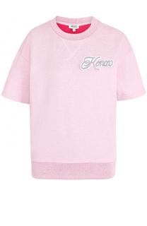Топ с коротким рукавом и логотипом бренда Kenzo
