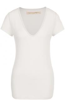 Приталенная футболка с V-образным вырезом Raquel Allegra