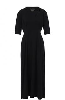 Приталенное платье-миди с укороченным рукавом Isabel Marant