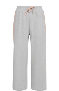 Укороченные широкие брюки с лампасами Deha