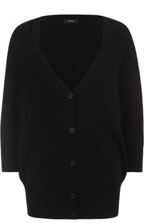 Кашемировый пуловер с открытыми плечами Theory