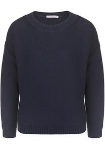 Пуловер фактурной вязки с круглым вырезом Vince