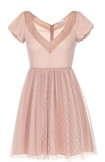 Приталенное мини-платье с завышенной талией REDVALENTINO