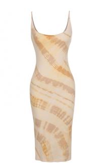 Облегающее платье-миди с принтом Raquel Allegra
