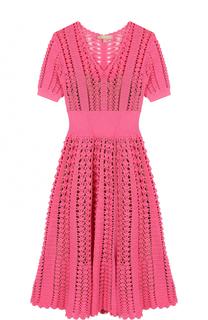 Вязаное приталенное платье-миди Michael Kors