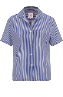 Шелковая блуза в полоску с коротким рукавом Stella Jean