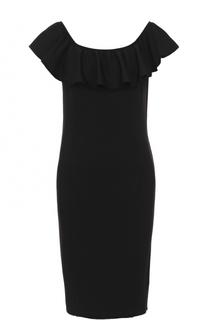 Облегающее мини-платье с оборкой Polo Ralph Lauren