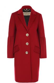Пальто прямого кроя с расклешенными рукавами Burberry