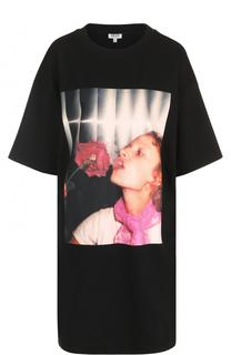Платье-футболка с фотопринтом Kenzo