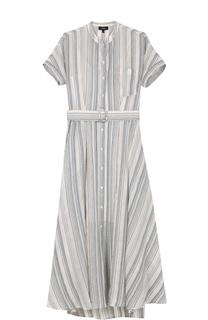 Платье-миди в полоску с поясом Theory
